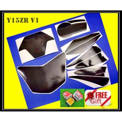 Y15ZR V1-V2 STICKER TINTED HEAD LAMP + SIGNAL LAMP 5 IN 1 Y15 YAMAHA METER LENS HANDLE COVER SMOKE LIGHT DEPAN BELAKANG