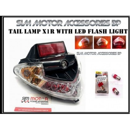 LC135 X1R TAIL LAMP SMOKE CLEAR YAMAHA X1-R LC135 TAIL LAMP REAR LAMP LAMPU BELAKANG SET