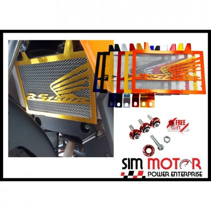 Honda RS150R RS150 WINNER COOLANT NET RADIATOR COVER + FREE SCREW COLOR 2PCS