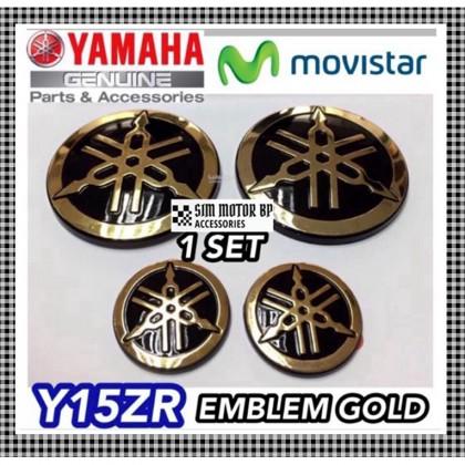 Yamaha Y15ZR V1 V2 LC135  Logo 3D Emblem Gold / Silver